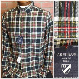Cremieux vintage twill men's shirt M XXL 3XT (3Q)